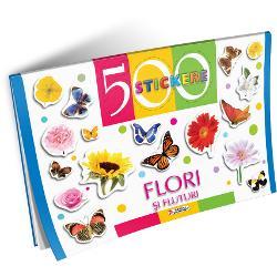 500 Stickere - Flori si fluturi