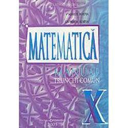 Matematica manual pentru clasa a X a TC