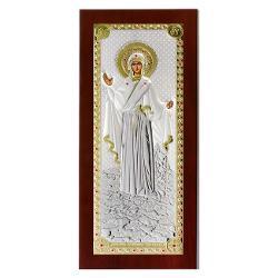 Icoana Maica Domnului Athos auriu 11x23cm MA/E 1204BX-C