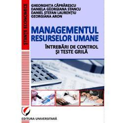 Managementul resurselor umane intrebari de control si teste grila