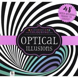 Kaleidoscope Colouring: Optical Illusions Purple imagine librarie clb