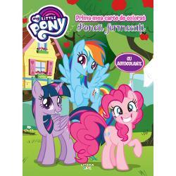 Carte de colorat cu autocolanteMy Little PonyPoneii fermecati
