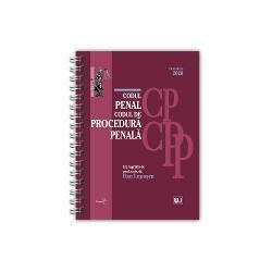 CODUL PENAL SI CODUL DE PROCEDURA PENALA OCTOMBRIE 2020EDITIE SPIRALATAINCLUDE&9679; corelatii cu vechile reglementari&9679; dispozitii de aplicare&9679; decizii ale Curtii Constitutionale&9679; recursuri in interesul legii&9679; hotarari prealabile&9679; dispozitii conexe&9679; indexLucrareaCodul penal si Codul de procedura penala Octombrie 2020 editie spiralata ingrijita de