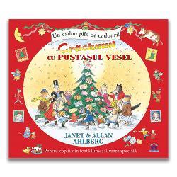 """Cartea ilustrat&259; """"Cr&259;ciunul cu Po&537;ta&537;ul vesel"""" este un cadou plin de cadouri pentru copiii cu vârsta peste 3 ani Vândut&259; în peste 6 milioane de exemplare aceast&259; carte frumos ilustrat&259; v&259; prezint&259; multe surprize &537;i devine interactiv&259; prin scrisorile de la personaje celebre din c&259;r&539;i de pove&537;ti care v&259; sunt prezentate in interiorul ei Po&537;ta&537;ul preferat al"""