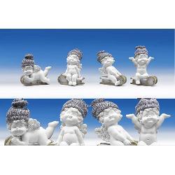 Ingeras Igor pe sanie - figurina din polirasina inaltime 12 cm modele diferite vezi imagineaPretul afisat este per bucata