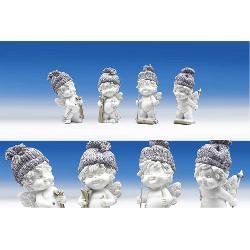 Ingeras Igor pe sanie - figurina din polirasina inaltime 12 cm modele diferite vezi imaginea