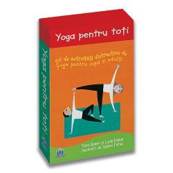 Pachetul Yoga pentru to&539;i este o modalitate extraordinar&259; de a petrece timp de calitate al&259;turi de copiii dumneavoastr&259; Se adreseaz&259; tuturor persoanelor cu v&226;rsta peste 4 aniPractica&539;i &238;ntinderea &238;n fa&539;&259; &238;n spate r&259;sucirea respira&539;ia echilibrul relaxarea &537;i multe altele cu Yoga pentru to&539;i un set vibrant &537;i colorat de jetoane ilustrate care ofer&259; o doz&259; s&259;n&259;toas&259; de