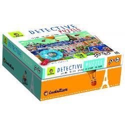 Când puzzle-ul este gata distrac&539;ia continu&259; cu un joc de-a detectivulFolose&537;te lupa special&259; cu mâner din lemn ca s&259; g&259;se&537;ti toate obiectele ascunse în imagineCON&538;INE• 108 de piese rezistente din carton gros• o lup&259; special&259; cu mâner din lemnDimensiune puzzle 35 x 50 cm Wooden magnifying glassp