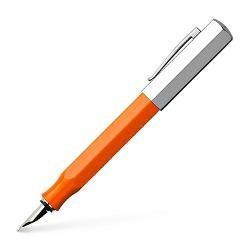 Stilou de lux Ondoro Portocaliu M Faber-CastellCorp de culoare oranj confectionat din rasina raraClip rezistent varf si capac din metal cromatPenita de calitate deosebita din inox de grosime M F
