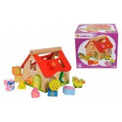 Juniorul tau va intra in lumea de poveste impreuna cu casuta de lemn cu 15 cuburi Cuburile ii vor dezvolta capacitatea de asociere a juniorului tau ceea ce-l va invata sa le distinga