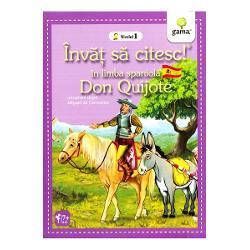 Cine nu a auzit de Don Quijote faimosul cavaler care s-a luptat cu morile de vânt Aceast&259; adaptare inspirat&259; de romanul lui Miguel de Cervantes este dedicat&259; cititorilor încep&259;tori care vor s&259; exerseze lectura în limba spaniol&259; Propozi&539;iile sunt scurte cuvintele – cunoscute iar dimensiunea caracterelor u&537;ureaz&259; lectura La finalul c&259;r&539;ii exist&259; un dic&539;ionar cu traducerea cuvintelor mai