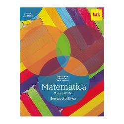 Culegere de matematica clasa a VIII a semestrul II. Clubul matematicienilor. Traseul albastru imagine librarie clb