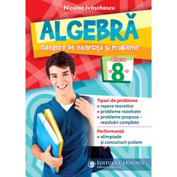 """Lucrarea """"Algebr&259; Culegere de exerci&539;ii &537;i probleme Clasa a 8-a"""" respecta programa analitic&259; în vigoare &537;i în acela&537;i timp completeay&259; manualele existente fiind recomandat&259; folosirea la clas&259; în paralel cu acestea Se adreseaz&259; tuturor elevilor din clasa a VIII-a &537;i profesorilorAutor Nicolae Iv&259;&537;chescuCaracteristici format 165 X 235 cm alb negru 280 p"""