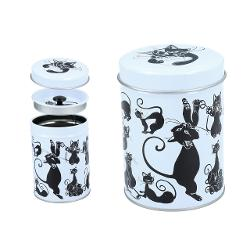 cutie metal ceai pisici negre 6,5x9cm 0072071 imagine librarie clb