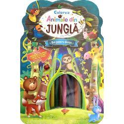 Colorez animale din jungla - Set