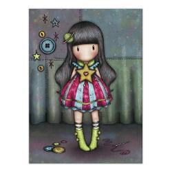 Felicitare Gorjuss Moon ButtonsFelicitare Gorjuss Moon Buttons este un cadou absolut adorabil pentru persoanele dragi cu ocazia unei aniversari sarbatori sau chiar si si pentru alte ocazii Frumusetea aceste felicitari este data de cromatica si desing-ul extrem deelegant Moon Buttonseste o micuta fetita Gorjuss plina de viata creative si este inconjurata de nasturii ei preferati Felicitarea este si mai frumoasa datorita detaliilor din