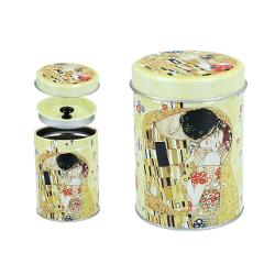 Cutie din metal pentru ceai Gustav Klimt Kiss 6,5x9cm 0072002 imagine librarie clb