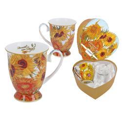 Set de 2 Cani de Portelan 0,35L Van Gogh Sunflowers 8300306