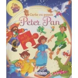 Carte cu puzzle - Peter Pan cu 6 puzzle-uri