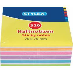 Notes autoadeziv 76x76 mm 320 file neon 320 pagini in 6 culori fluorescente puternice cu banda autoadeziva in partea superioaraIdeal pentru a scrie mesaje-atat acasa cat si la birouProdus de STYLEX-Germania
