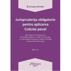 Jurisprudenta obligatorie pentru aplicarea Codului penal. Actualizata 4 ianuarie 2021