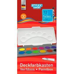 Acuarele Toppoint 12 culori cu paleta incorporata in capacCapaculpaleta este detasabilInclude un tub de culoare alba tabletele sunt interschimbabilespan stylebackground none repeat scroll 0 0 white; color