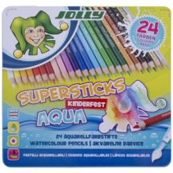 Creioane color acuarela JOLLY AQUA 24/metal 3001-0002