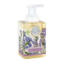 Sapun lichid spumaSapunul contine aloe vera si este imbogatit cu unt de sheaCatifeleaza si hidrateaza pieleaAroma LAVANDA SI ROZMARINGramaj530 ml