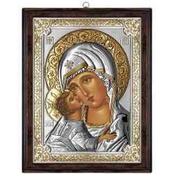 Icoana Maica Domnului Vladimir auriu 12x15 cm LC31180-O