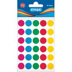 Etichete autoadezive cu buline colorateSet cu 90 buline colorate