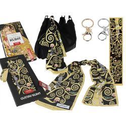 Esarfa accesoriu geanta Klimt pomul vietii 18x90cm 0234003