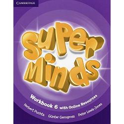 Super Minds 6 Workbook with Online Resources imagine librarie clb