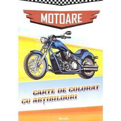 Motoare Carte de colorat cu abtibilduri editura KreativCaracteristici Format - 300 x 210 x 2 mm; Nr pagini - 24; Editie - Necartonata;ISBN 9786066460637Editura Kreativ