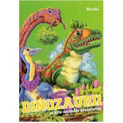 Distreaza-te colorand desenele lipeste abtibildurileCartea de colorat cu abtibilduri iti ajuta copilul sa-si dezvolte creativitatea motricitatea fina si coordonarea mana-ochi in timp ce invata si descopera dinozaurii si alte animale preistorice