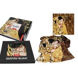 Esarfa Klimt kiss 90x90cm 0231001