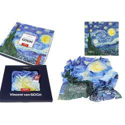 Esarfa Van Gogh noapte instelata 90x90cm 0231021