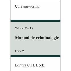Manual de criminologie