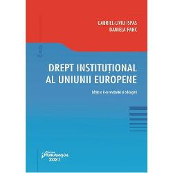 """Drept institutional al Uniunii Europeneeste un curs universitar aflat la cea de a doua editie conceput in scopul de a oferi studentilor si publicului neavizat in domeniu o """"cale de intrare"""" in problematica Uniunii Europene care se dovedeste a fi una neasteptat de incitanta actuala si cu implicatii profunde in societatea nationala si in spatiul internationalEditia a doua a prezentei lucrari pe langa actualizarile si revizuirile necesare cuprinde"""