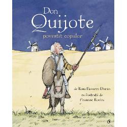 Don Quijote un mo&537;ier dintr-un s&259;tuc spaniol considerat cam &539;&259;c&259;nit de familie &537;i vecini porne&537;te al&259;turi de servitorul s&259;u Sancho Panza &238;ntr-o c&259;l&259;torie plin&259; de aventuri &537;i primejdii cu scopul de a-i ajuta pe cei neputincio&537;i &537;i de a c&226;&537;tiga inima unei preafrumoase domni&539;e pe nume Dulcineea del Toboso Cavalerul &537;i scutierul vor avea de &238;nfruntat uria&537;i c&259;pc&259;uni