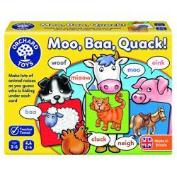 Continut31 cartonase cu animale 1 zar cu buline colorate 1 plansa de referinta cu animaleScopul jocului este acela de a strange cele mai multe cartonase cu animale imitand corect sunetul produs de acesteaVarsta recomandata 3-6 ani2-4 jucatoriDimensiuni cutie 19 x 5 x 14 cm