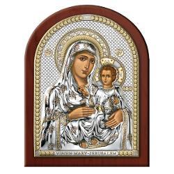 Icoana Argintata Maica Domnului de la Ierusalim 15x20cm Auriu 84320 4LORO imagine librarie clb