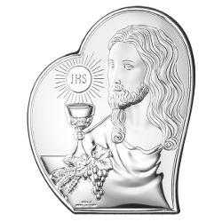 Icoana Argint Comuniune IIsus 9 x11cm 81124 1L imagine librarie clb