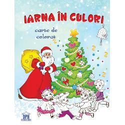 Carte de colorat de iarnapentru copii