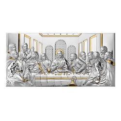 Icoana Argint Cina cea de Taina 26x13cm Auriu