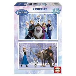 Puzzle 2 x 100 piese Frozen