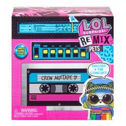 Descopera LOL Surprise Remix Pets - Papusi cu 9 Surprize par real si versuri muzicaleLOL Remix Pets sunt toate personaje noi cu par adevarat si fiecare reprezinta un gen muzical Animalele de companie LOL Pets vor sa mearga la concert dar pentru ca acestea nu sunt permise ele imbraca noi costume pentru deghizare in asa fel incat sa para papusi Acum ele se pot strecura la spectacolSe strecoara in culisele ultimului concert - So Extra Tour - si descopera ca toate