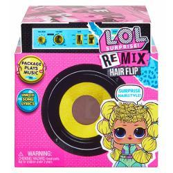 LOL Surprise Remix Hair Flip din seria Tots sunt personaje noi si fiecare reprezinta un gen muzical - Pop R&B Hip Hop sau RockToate sunt gata sa cante in concertul final - So Extra Tour - dar toata muzica lor a fost remixata Ajuta-le sa-si scoata melodia din pachetul care reda cu adevarat muzicaDezvaluie colectia mini-disc a fiecarei papusi si joaca-o pe ambalajul playerului Dupa ce ai gasit versurile papusii tale ajuta-o sa se pregateasca pentru spectacolbr