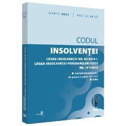 CODUL INSOLVENTEILEGEA INSOLVENTEI NR 852014 SI LEGEA INSOLVENTEI PERSOANELOR FIZICE NR 1512015MARTIE 2021&160;INCLUDE&160;Legea nr 852014&160;privind procedurile de prevenire a insolventei si de insolventacu modificarile ulterioare&160;Legea nr 1512015&160;privind procedura insolventei persoanelor fizicecu modificarile