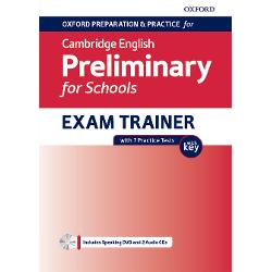 Oxford cambridge english preliminary for schools B1 exam Trainer with 7 practice tests imagine librarie clb