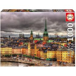 Puzzle 1000 piese views of stockholm educa